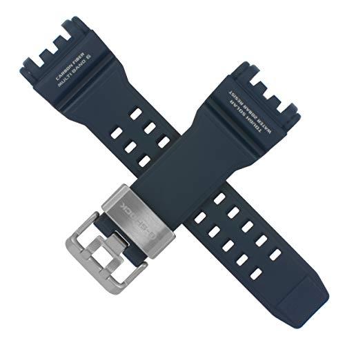 Cinturino per orologio Casio GPW-1000 GPW 1000 blu navy di emergenza arancione