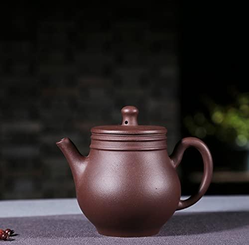 Yixing juego de té de arena púrpura hecho a mano de calidad mineral crudo arcilla púrpura doble línea juego de botellas de jade tetera 250 ml