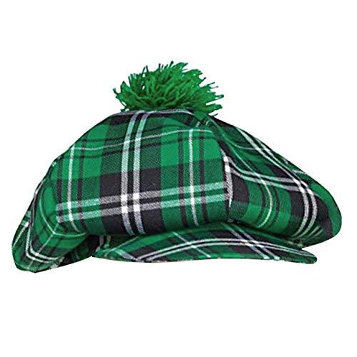 Faletony Irisch St. Patricks Day Hut Irischer Mann Gitter Hut Festival Party Kostüm Hut für Herren Damen, Grün