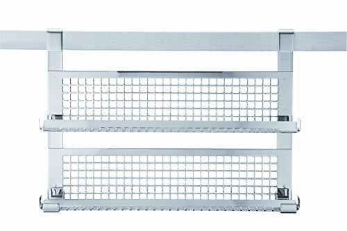 RÖSLE Gewürzboard zweifach, Edelstahl 18/10, 33 x 6 cm, spülmaschinengeeignet