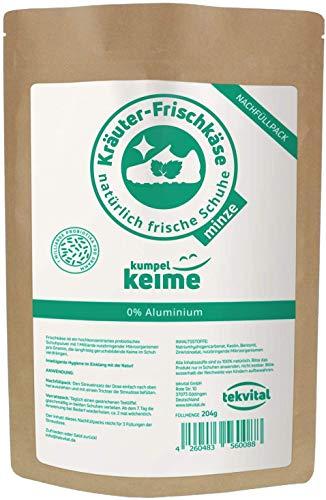 Kräuter-Frischkäse Minze Nachfüllpack - das mikrobiologische Schuhpuder - Schuh-deo gegen Fuß-Geruch - 204 Gramm