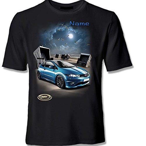 youtex Hond Civic Type-RHIGH Class T-Shirt (Weiss, XL)