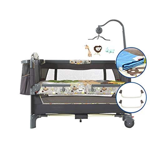 Reisebetten Baby Kinderreisebett Babynestchen Multifunktional Kinderreisebett Crib Für Baby Sleeptight Spiel Bett Tragbar Falten Mit Matratze Moskito Netto (Color : B)