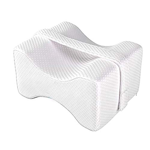 Breive Almohada Rodillas Ortopedica Para Dormir Espuma Foam Con Memoria Cojin Piernas Dormir de Lado Leg Pillow Latex Antiacaros Hipoalergenico Ergonomico Almohadas para Ciática Dolor Lumbar Embarazo