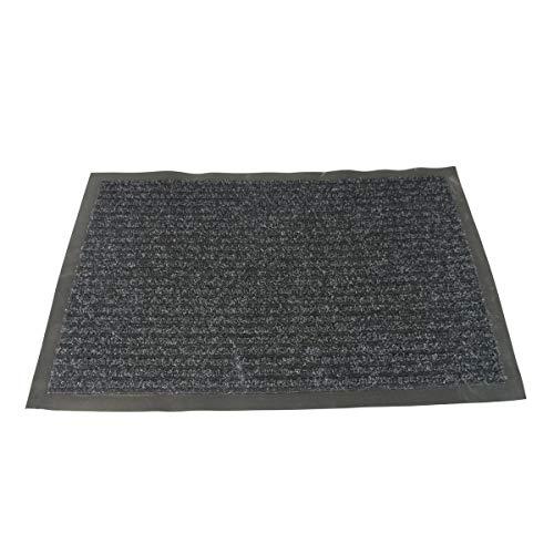 1x Schmutzfangmatte Größe ca. 80x120cm Sauberlauf Fussmatte verschiedene Farben (schwarz)