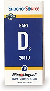 Superior Source Baby D Infant Formula Nutritional Supplements, 200 IU,100 Count