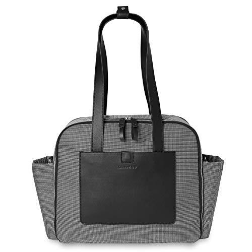 Bolsa Maternidade(Diaper Bag) Madison Square Skip Hop - Black/White Mini Grid, Skip Hop, Black/White Mini Grid