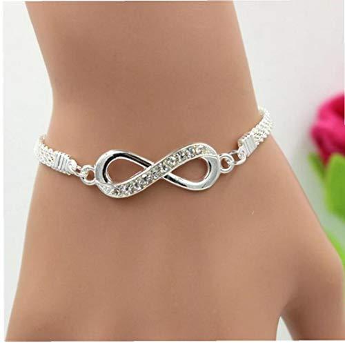 BYFRI Rhinestone Infinity Armband Damessieraden voor heren