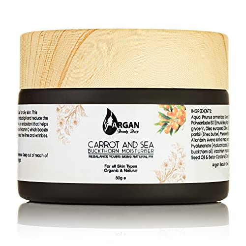 ARGAN BEAUTY DEEP Carrot and Seabuckthorn Moisturiser - Anti Aging Face Cream Reduces Fine Lines...