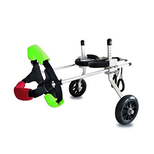 Verstelbare rolstoel voor huisdieren, rolstoel voor huisdieren, verstelbare maat voor de hond achter lim training scooter hulpmiddelen, een groot aantal modellen geschikt voor 2-50 kg kleding voor, XS,  Celeste Y Blanco