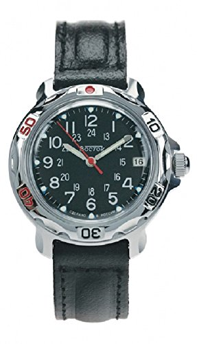 Vostok KOMANDIRSKIE 811783/2414un militar ruso de las fuerzas especiales reloj negro