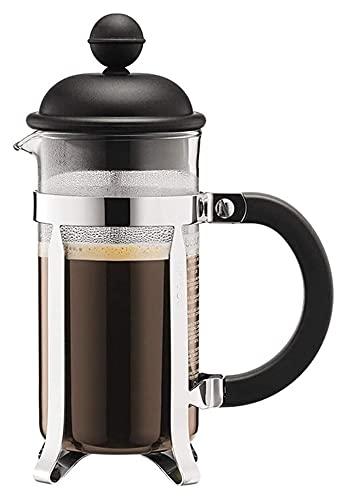 Coffee Press Glass Ręcznie Punch Ekspres do kawy Gospodarstwa domowego Mały Przenośny filtr Czajnik Mała pojemność (Color : Black, Size : 350ml)