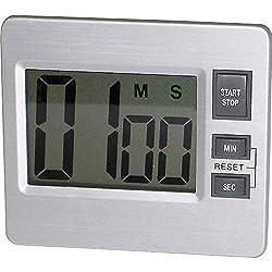 Tatco Products Inc 52410 Digital Timer, Desk/Wall, 3-3/8-Inch x3/4-Inch x3-Inch, Silver/Black