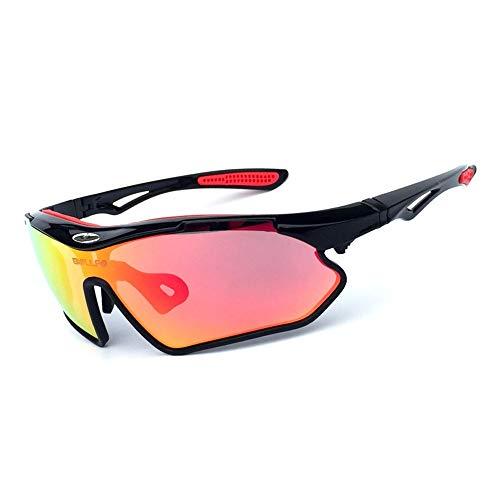 JIAGU Gafas de Sol para Conducir Hombres y Mujeres Gafas de Sol de Bicicleta de montaña Deportes al Aire Libre Gafas de Sol polarizadas Reflectantes (Color : Multi-Colored, Size : One Size)