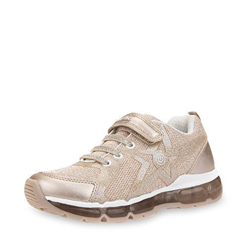 Geox Jungen Mädchen J Android Girl B Sneaker, Gold (Platinum/White), 28 EU