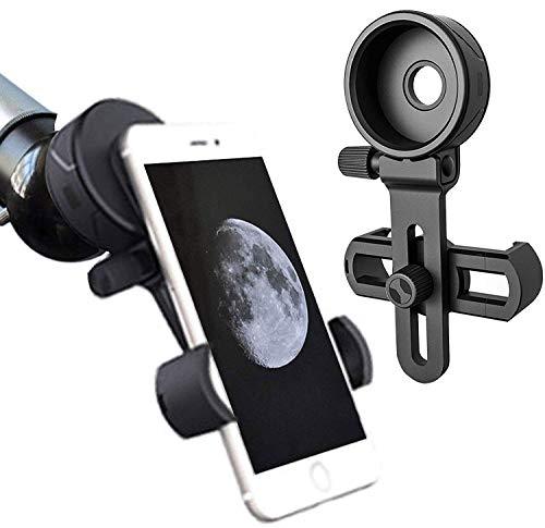 Universal Teléfono Móvil Soporte de Adaptador – Adaptador Smartphone Móvil Universal Adaptador para Telescopio, Prismáticos, Telescopio Terrestre, Microscopio (A)