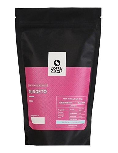 Coffee Circle | Premium Kaffee Rungeto | 350g gemahlen | Fruchtiger Filterkaffee Kenia AA | 100% Arabica | fair & direkt gehandelt | frisch & schonend geröstet