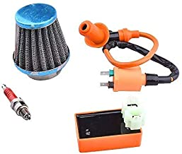 Racing Ignition Coil + AC CDI + 39mm Air Filter Spark Plug for GY6 4-Stroke Engine 139QMB 152QMI 157QMJ 50cc-150cc Scooter ATV Go Kart Moped Quad Pit Dirt Bike
