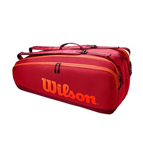 Wilson Tour TNS Bag, Borse per Attrezzatura da Tennis Unisex-Adult, Maroon, 6 Rackets