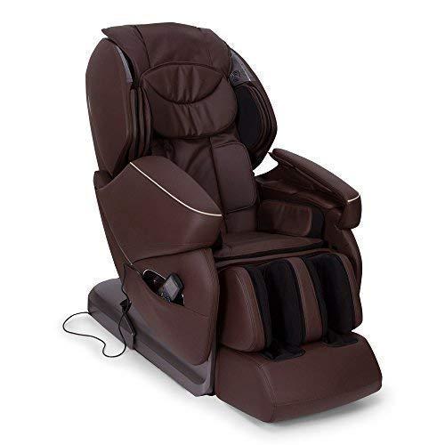 NIRVANA Poltrona massaggiante Shiatsu 3D - Marrone - Poltrona massaggio con posizione Gravità Zero - Poltrona relax con 9 programmi di massaggio automatici - 2 Anni Garanzia