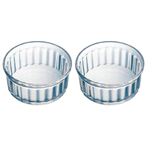 Pyrex Classic Individuals - Ramekin de vidrio (alta resistencia al calor, 10 cm, 2 unidades), transparente