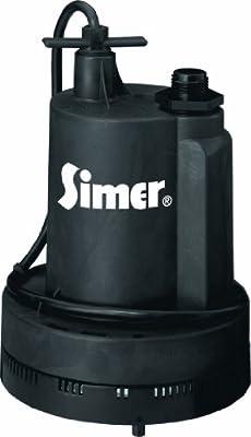 Simer 2305-04 Geyser II 1/4 HP Submersible Utility Pump