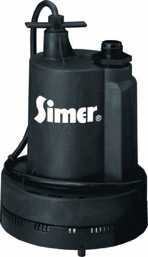 Simer 2305-04 Geyser II 1/4 HP Submersible Utility Pump , Black