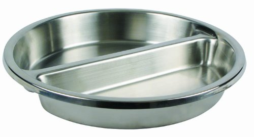 Round Divided Food Pan for 6 Qt Chafer -  Winco, FBA_SPFD-2R