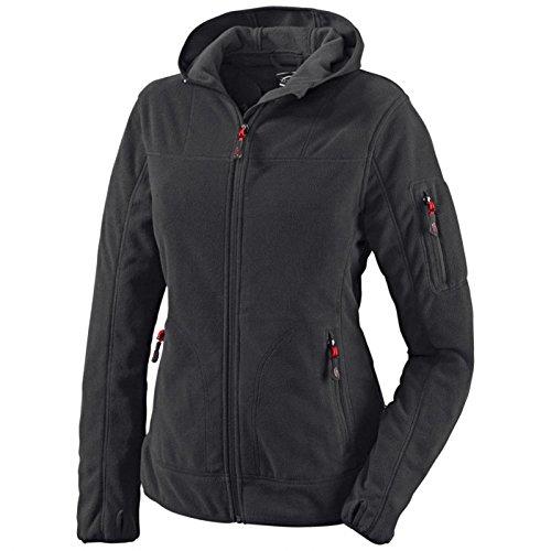 Arbeitsjacke Kapuzenjacke Crossover Damen-Kapuzen-Fleecejacke - Größe 5XL - schwarz
