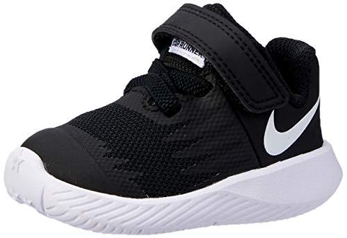 Nike Unisex-Kinder Star Runner (TDV) Laufschuhe, Schwarz (Black/White-Volt 001), 25 EU