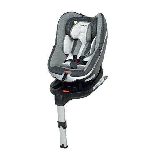 Foppapedretti Uniko I-Size Seggiolino Auto per Bambini con Altezza da 40 a 95 cm (Fino a 18 Kg), Grey