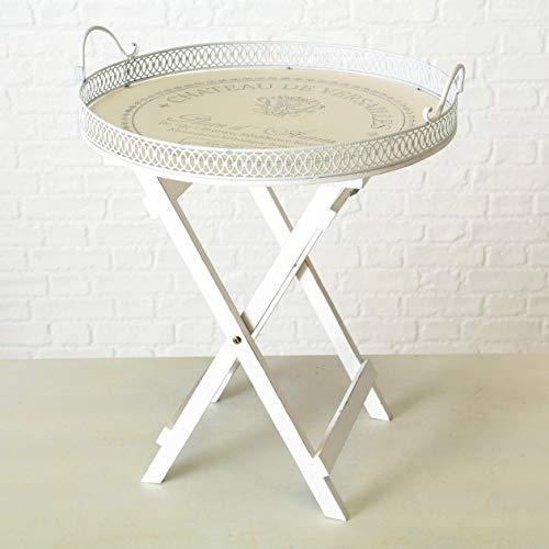 Beistelltisch Tablett-Tisch weiß Landhaus Shabby