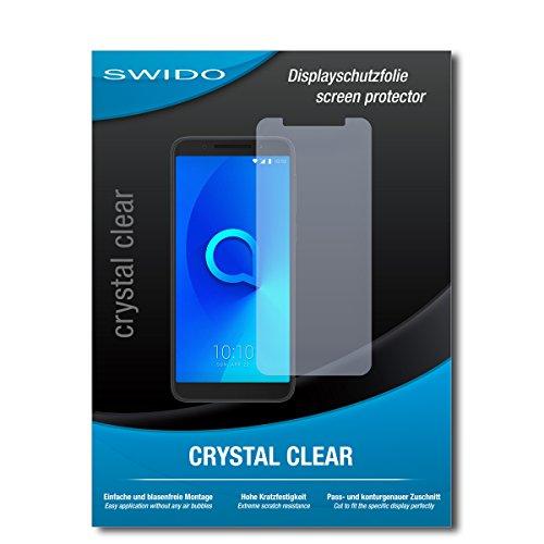 SWIDO Schutzfolie für Alcatel 3X [2 Stück] Kristall-Klar, Hoher Festigkeitgrad, Schutz vor Öl, Staub & Kratzer/Glasfolie, Bildschirmschutz, Bildschirmschutzfolie, Panzerglas-Folie