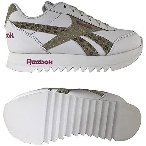 Reebok Royal CLJOG 2 Platform, Zapatillas de Running Mujer, FTWBLA/FTWBLA/Dormet, 38 EU