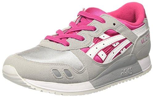 ASICS Unisex-Kinder Gel-Lyte Iii Ps Turnschuhe, Pink (Sport Pink/White), 31.5 EU