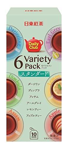 三井農林 日東紅茶 デイリークラブ6バラエティーパックスタンダード ×6箱 ティーバッグ