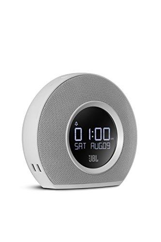 JBL Horizon Bluetooth Clock Radio with USB Charging and Ambient Light (White) (JBLHORIZONWHTAM)