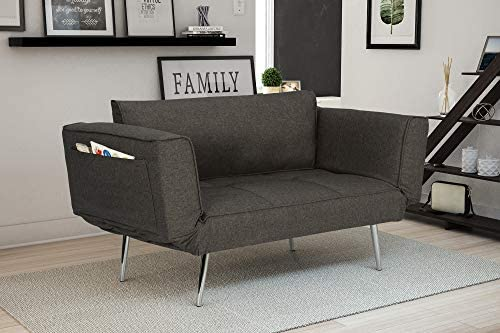 Best Novogratz Leyla Loveseat, Multifunctional and Modern Design, Adjustable Armrests to Create a Couch S