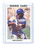 1990 Leaf #111 Greg Vaughn Milwaukee Brewers Rookie Card - Mint Ships In Brand New Holder. rookie card picture