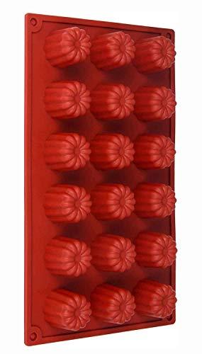 Backform Gugelhupf aus Silikon, Pralinenform, Eiswürfelform Muffinform Schokolade Form Süßigkeit Deko Förmchen antihaftbeschichtet Küchenhelfer Eiswürfelform Silicone, Farbe: Braun