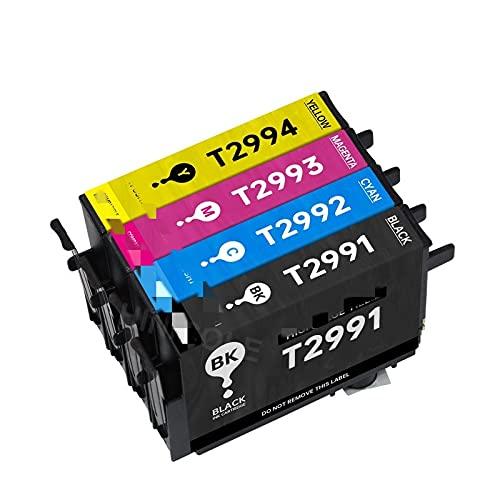 BIVJX Cartucho de Tinta Cartucho de Tinta para EPSON XP 235 245 332 335 432 432 435 435 442 345 255 257 352 355 452 455 Cartuchos de la Impresora T29 No es fácil de desvanecer (Color : 1 Set)