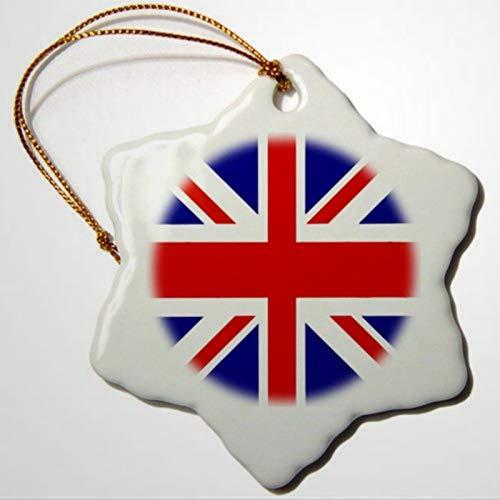 BYRON HOYLE Dekoratives Hängeornament mit britischer Flagge, Motiv: britische Seefahrt-Flagge, Weihnachtsdekoration, Hochzeitsdekoration, Urlaubsgeschenk