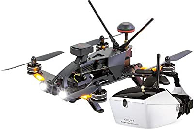 Walkera 15004650Runner 250Pro Racing Quadcopter RTF–HD Camera Goggle V4Video Glasses FPV Drone, GPS, OSD, Battery, Charger and Devo 7Transmitter by XciteRC