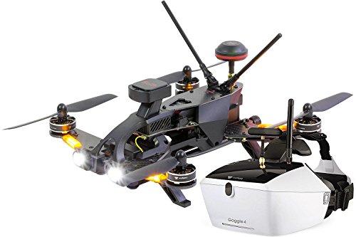 Walkera 15004650-Runner 250Pro Racing quadrirotor-FPV-Drone RTF avec caméra HD, Masque V4Lunettes vidéo, GPS, OSD, batterie, chargeur et Devo 7Télécommande