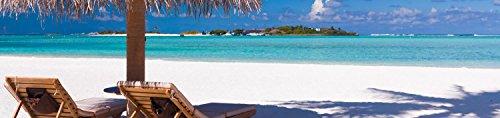 wandmotiv24 Küchenrückwand Entspannung am Strand 260 x 60cm (B x H) - Acrylglas 4mm Nischenrückwand, Spritzschutz, Fliesenspiegel-Ersatz, Deko Küche M0450