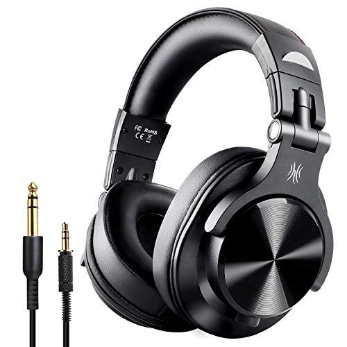OneOdio A7 Fushion Cuffie Bluetooth Over Ear Chiuse Cuffie Wireless Studio con adattatore Cuffie in pelle Protein Port gratuite Cuffie DJ professionali per il monitoraggio della registrazione