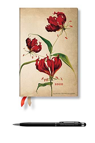 Lot Agenda Français Civil 2020 Paperblanks' LIS GLORIOSA' Mini Un Jour Par Page + 1 Stylo Stylus Touch Blumie