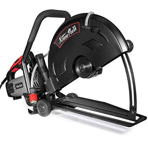 "XtremepowerUS 3200W 16"" in Electric Cutter Circular Saw Wet/Dry Concrete Saw Cutter Guide Roller (Blade Not Included)"