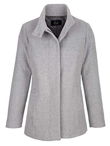 Paola Damen Wolljacke mit Stehkragen in Grau in hochwertiger Qualität