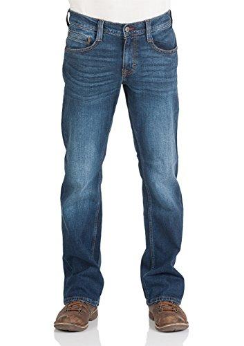 MUSTANG Herren Jeans Hose Oregon Bootcut Männer Jeanshose Denim Stretch Baumwolle Blau Schwarz W30 W31 W32 W33 W34 W36 W38 W40, Größe:W 31 L 30, Farbe:Dark Blue Denim (982)